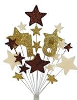 Number age 18th birthday cake topper decoration in choc, gold and cream - free postage