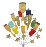 Painter & decorator 18th birthday cake topper decoration in gold - free postage