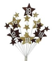 Star age 18th birthday cake topper decoration  in choc and gold - free postage