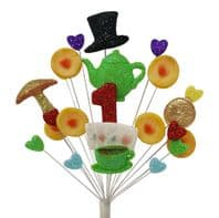 Tea party 1st birthday cake topper decoration - free postage