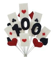 Vegas 100th birthday cake topper decoration - free postage