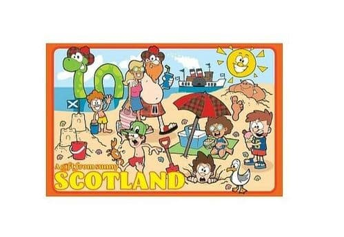 Gift from Sunny Scotland Novelty Collectable Tea Towel