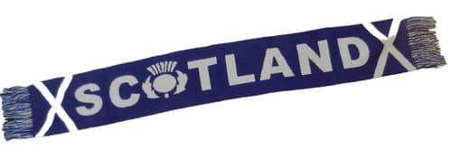 Scotland Supporters Scarf with Thistle and Saltire Flag