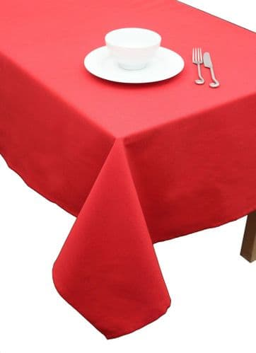 "Ambassador Christmas Table Cloth 67"" x 100"" - Red"