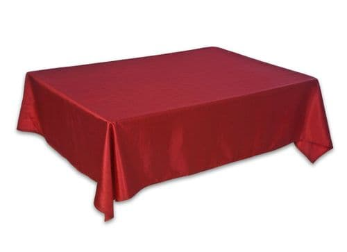 Christmas Shiny Red Table Cloth - Available in 2 sizes