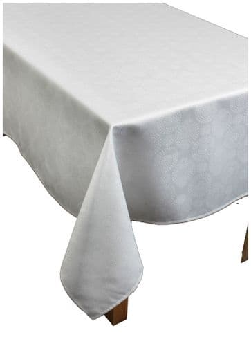 "Magic Christmas White/Silver Table Cloth 67""x 100"""