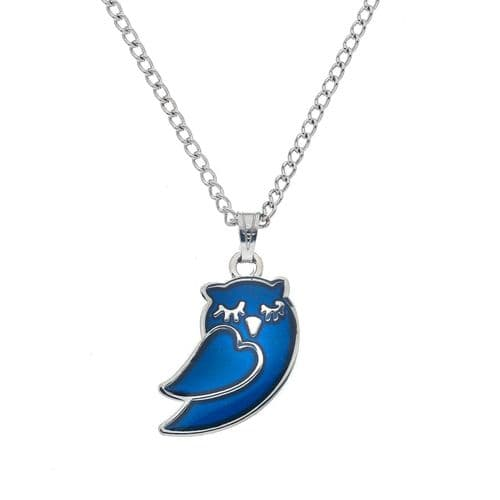 Sea Gems Sleepy Owl Colour Change Mood Necklace/Pendant