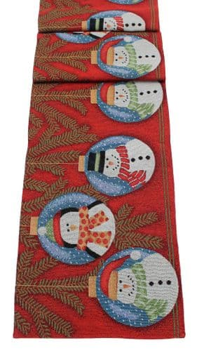 "Snow Baubles Christmas Table Runner 13"" x 72"""