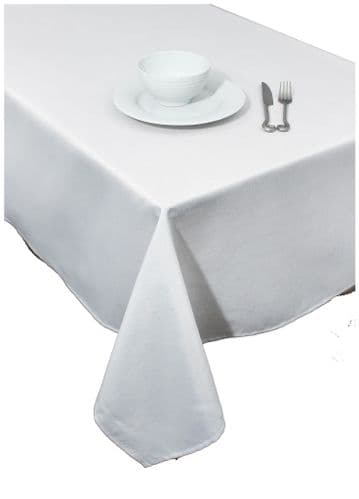 "Sparkle Christmas Table Cloth 67""x 100"" - White/Silver"