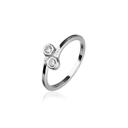 Sterling Silver Traditional Scottish 'Cubid' Design Ring WIth Cubic Zirconia Stone - CR157
