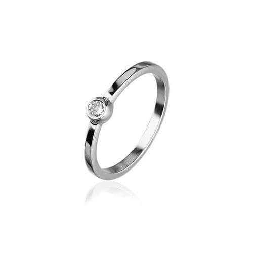 Sterling Silver Traditional Scottish 'Cubid' Design Ring WIth Cubic Zirconia Stone - CR161