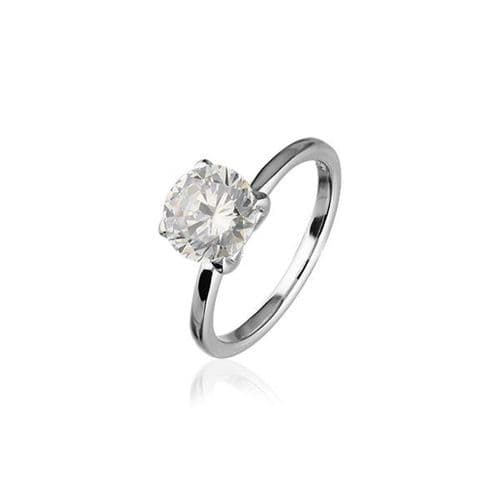 Sterling Silver Traditional Scottish 'Cupid' Design Ring WIth Cubic Zirconia Stone - CR165