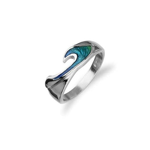 Sterling SIlver Traditional Scottish 'Rhapsody' Design Ring WIth Hot Glass Enamel - ER60
