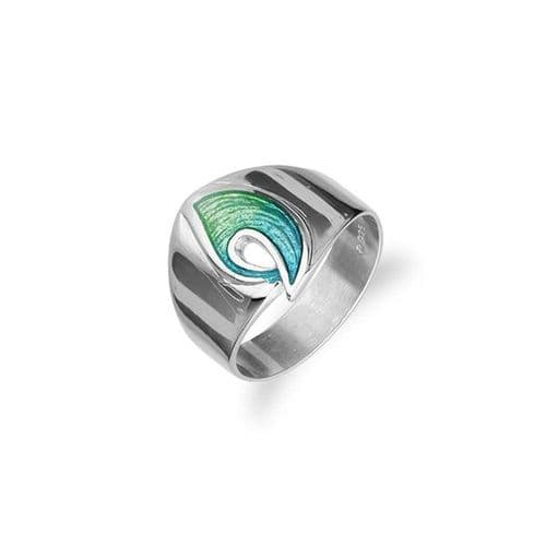 Sterling Silver Traditional Scottish 'Rhapsody' Design Ring With Hot Glass Enamel - ER61