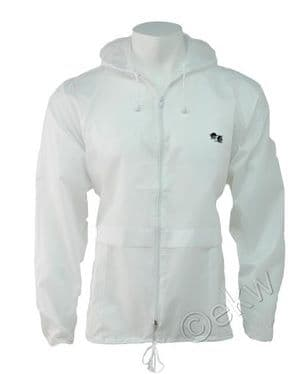 White Lawn Bowls Cagoule Sizes Small to XXL