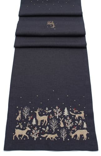 Woodland Way Embroidered Table Runner 14