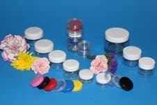 6ml Clear plastic Jar & Red or white lid