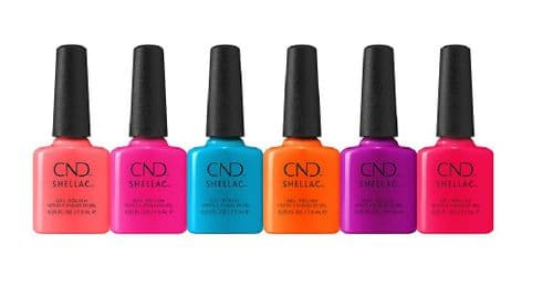 CND Shellac - City Chic 2021 Summer Collection 6 x 7.3ml