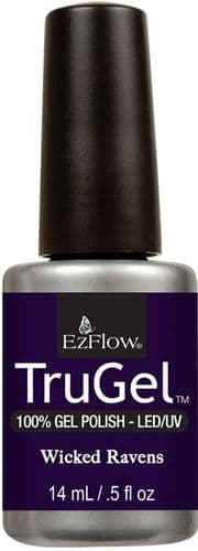 EzFlow Trugel Led/UV Gel Polish - Wicked Ravens - 0.5oz/14ml