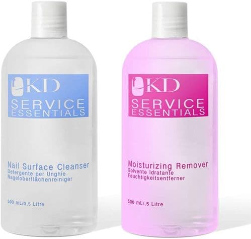 KD Professional Gel Nourishing Remover & Nail Cleanser 2 x 500ml