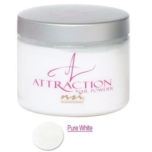 NSI Attraction Acrylic Nail Powder - PURE WHITE 40g