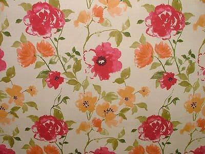 Ashley Wilde MARDEN CRIMSON FLORAL Curtain/Upholstery/Soft Furnishing Fabric