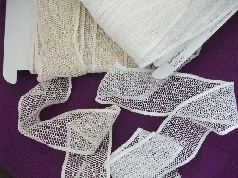 Champagne Cotton Cluny Leavers Lace Trim 2.5