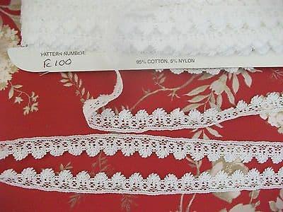 Exclusive Cluny FC100 White Cotton Nottingham Valenciennes Lace