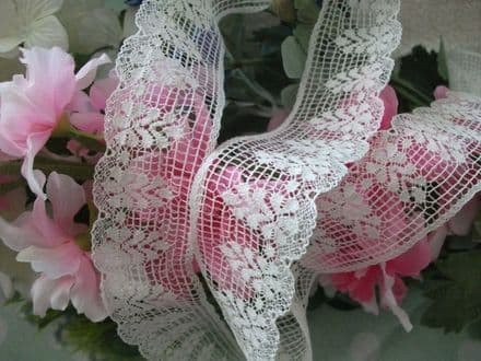 Exclusive English Made Cotton Cluny Lace Vintage style - Ecru FC286 Bridal