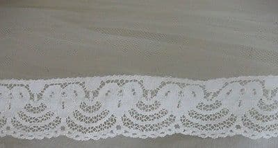 FC119 Exclusive English Nottingham Cotton Cluny Lace Vintage style - 4 colours