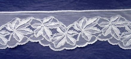 FC198 White Cotton Nottingham Valencienne Lace