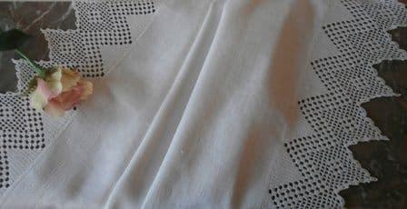 HT6 Genuine Vintage Huckaback Towel.