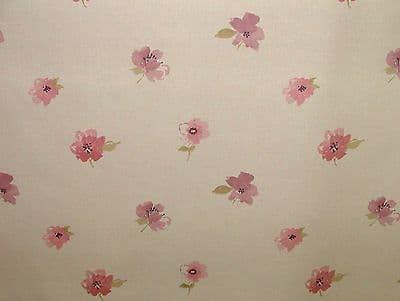 Janella Blush Curtain / Soft Furnishing Fabric by Ashley Wilde
