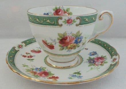 """Plant Tuscan China Cup and Saucer - """"Lowestoft"""