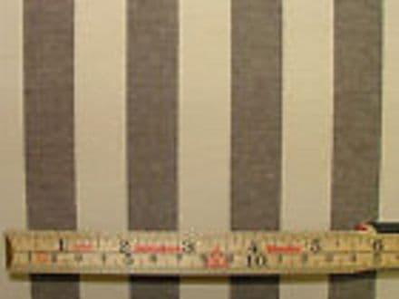 Prestigious Textiles Brown & Cream Ticking Curtain /Upholstery Fabric