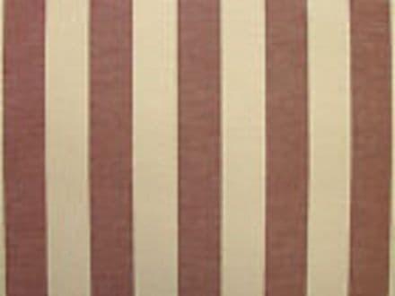 Prestigious Textiles Wine & Cream Ticking Curtain /Upholstery Fabric