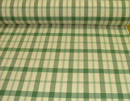 Prestigious Textiles Xmas Green/ Off White Check  Curtain/ Furnishing/Tablecloth
