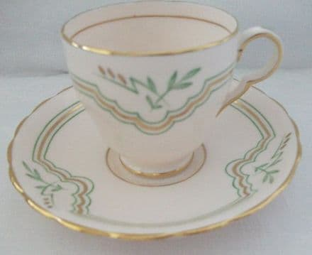Pretty Pink Plant Tuscan China Cup and Saucer