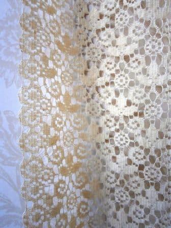 Vintage Rustic Lace Panel Pair