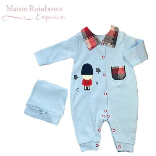 Baby Boys  Blue Soldier Romper