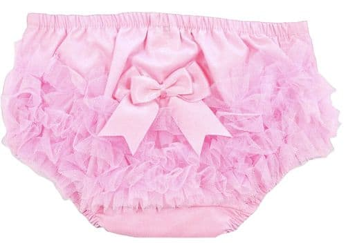 Baby Girls Pink Frilly Lace Knickers