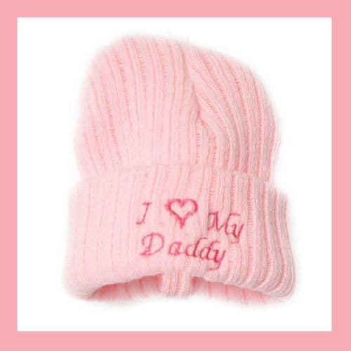 Baby Girls Pink I Love My Daddy  Hat