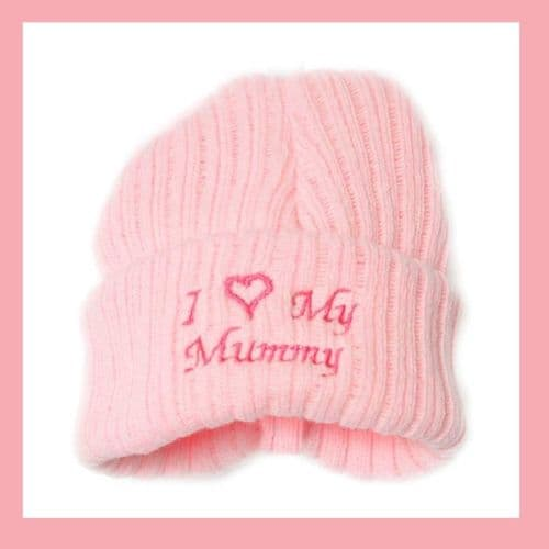 Baby Girls Pink I Love My Mummy Hat