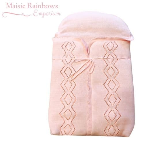 Baby Pink  Spanish Knitted  Pram Cosy Toes