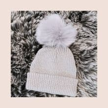 Baby/Toddler Grey Pom Pom hat