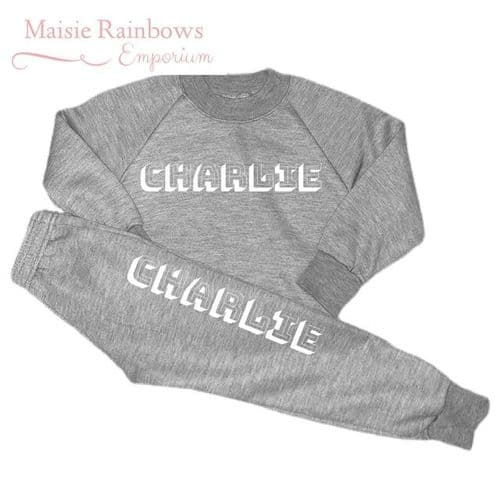 Boys Grey Loungewear Set