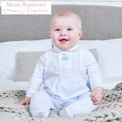 Peter Pan Collar Little Boat Cotton sleepsuit