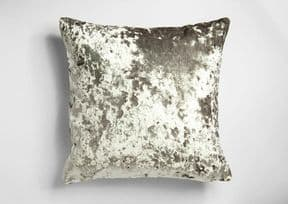 UK MADE DEEP THICK PILE CRUSHED SILVER GREY VELVET CUSHION COVER £8.99 EACH