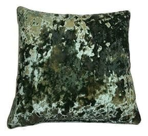 UK MADE SOFT MEADOW GREEN THICK  CRUSHED VELVET 17