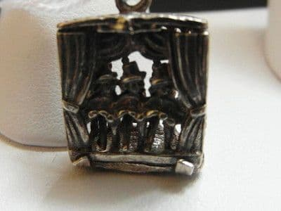112E VINTAGE STERLING SILVER CAN CAN DANCERS CHARM